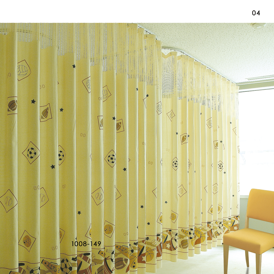 Inherently Flame Retardant Printed Cubicle Hospital Curtains 1008 149